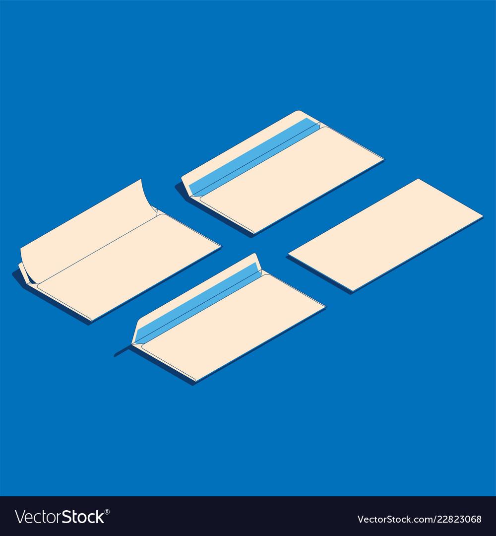 Flat isometric blank paper
