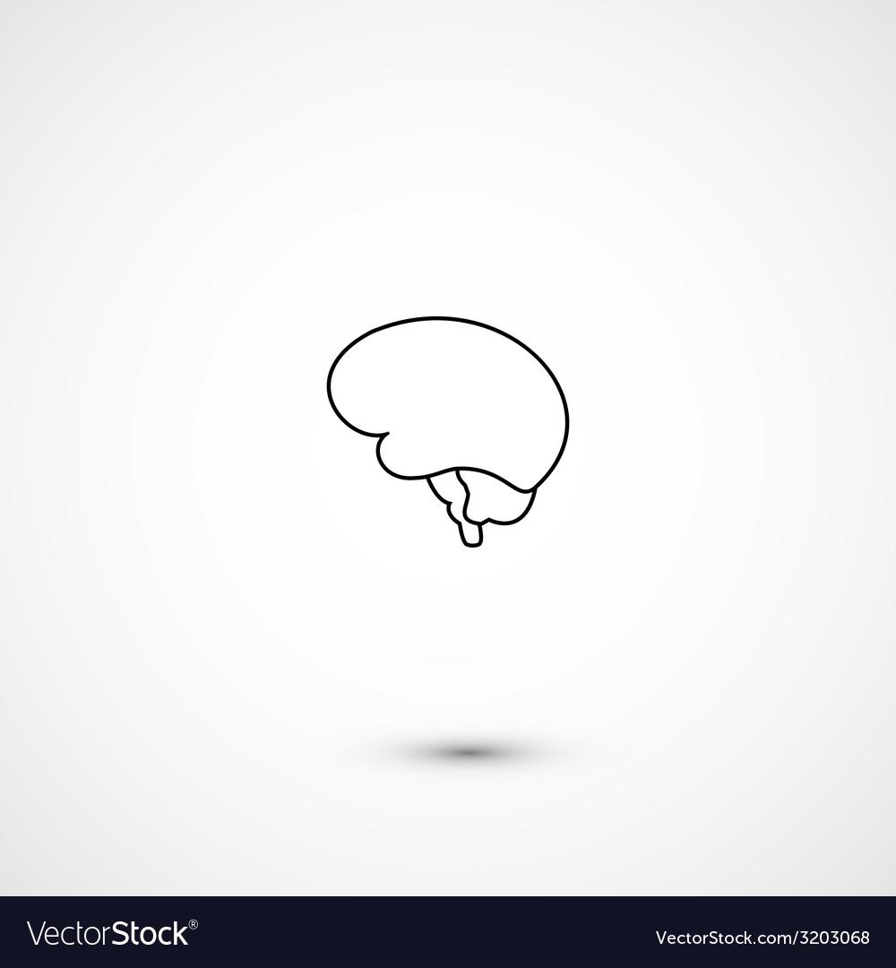 Minimal brain icon