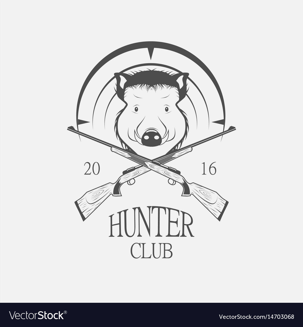 Weapons and a boar hunting label