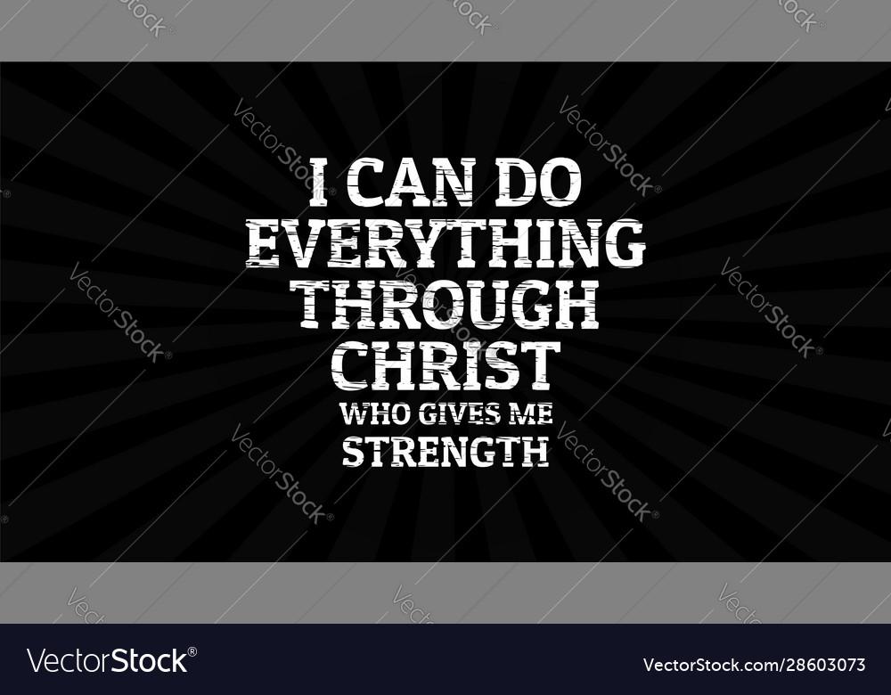 Bible Verse Desktop Wallpaper I Can Do Vector Image