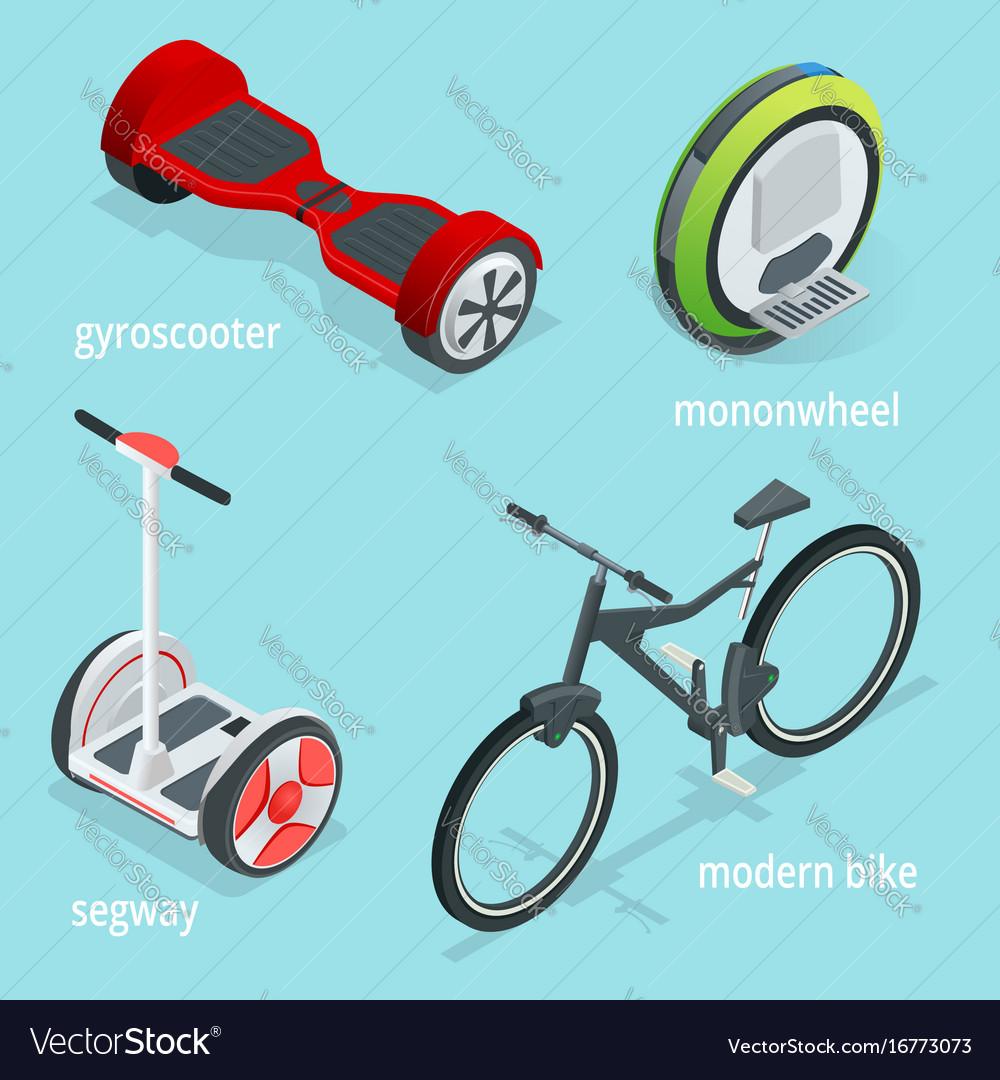 Isometric set of alternative eco transport