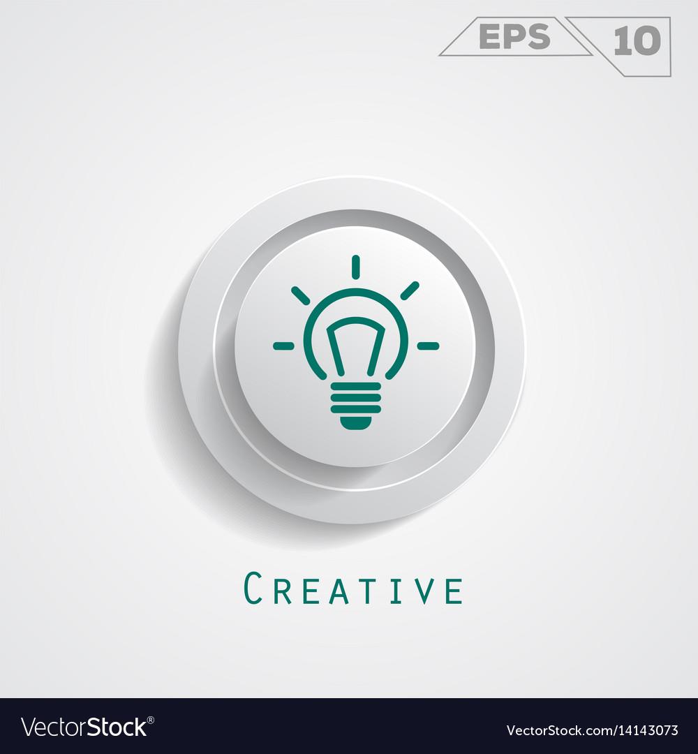 Lamp creative circle icon