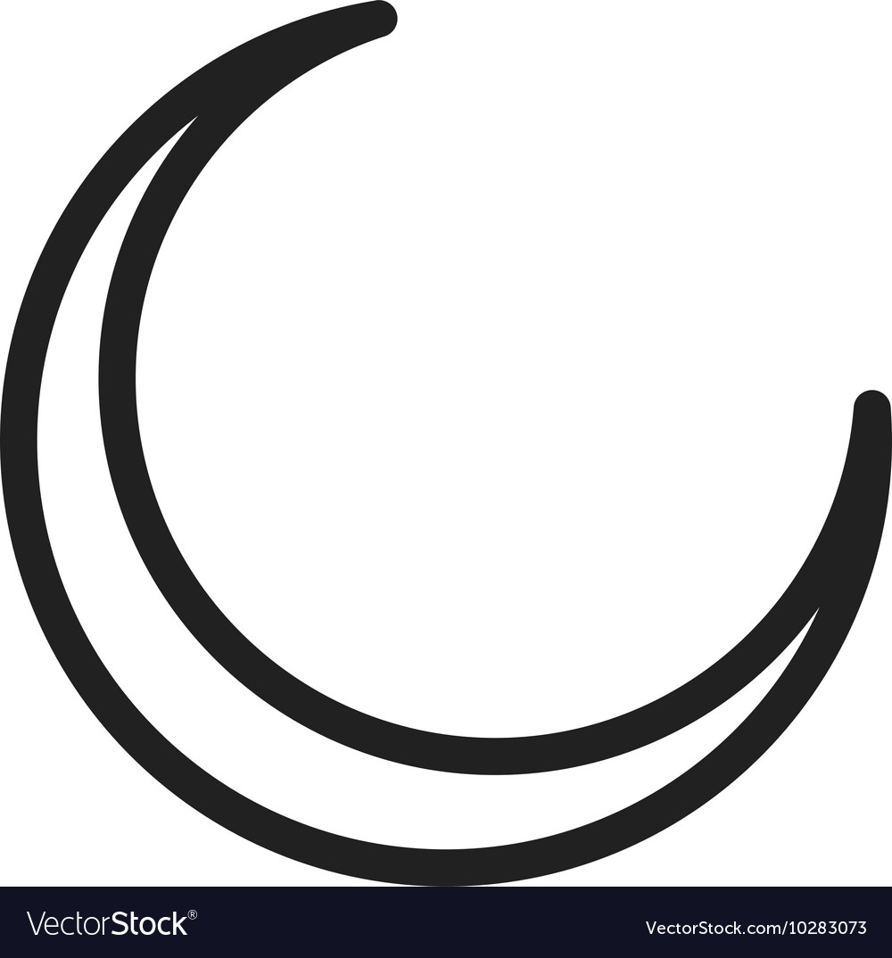 new moon royalty free vector image vectorstock rh vectorstock com moon vector icon moon vector png