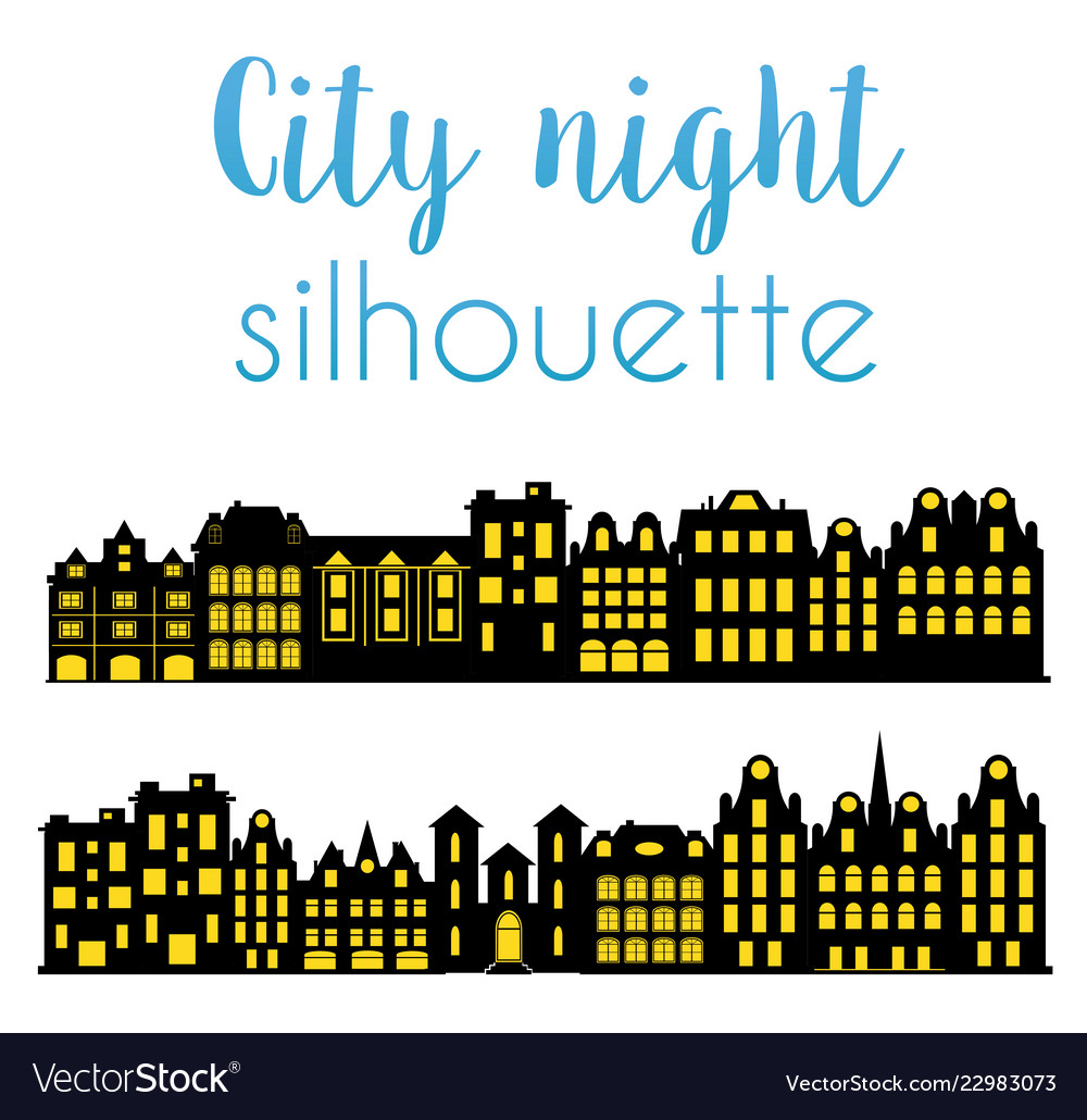 Night silhouette of the city