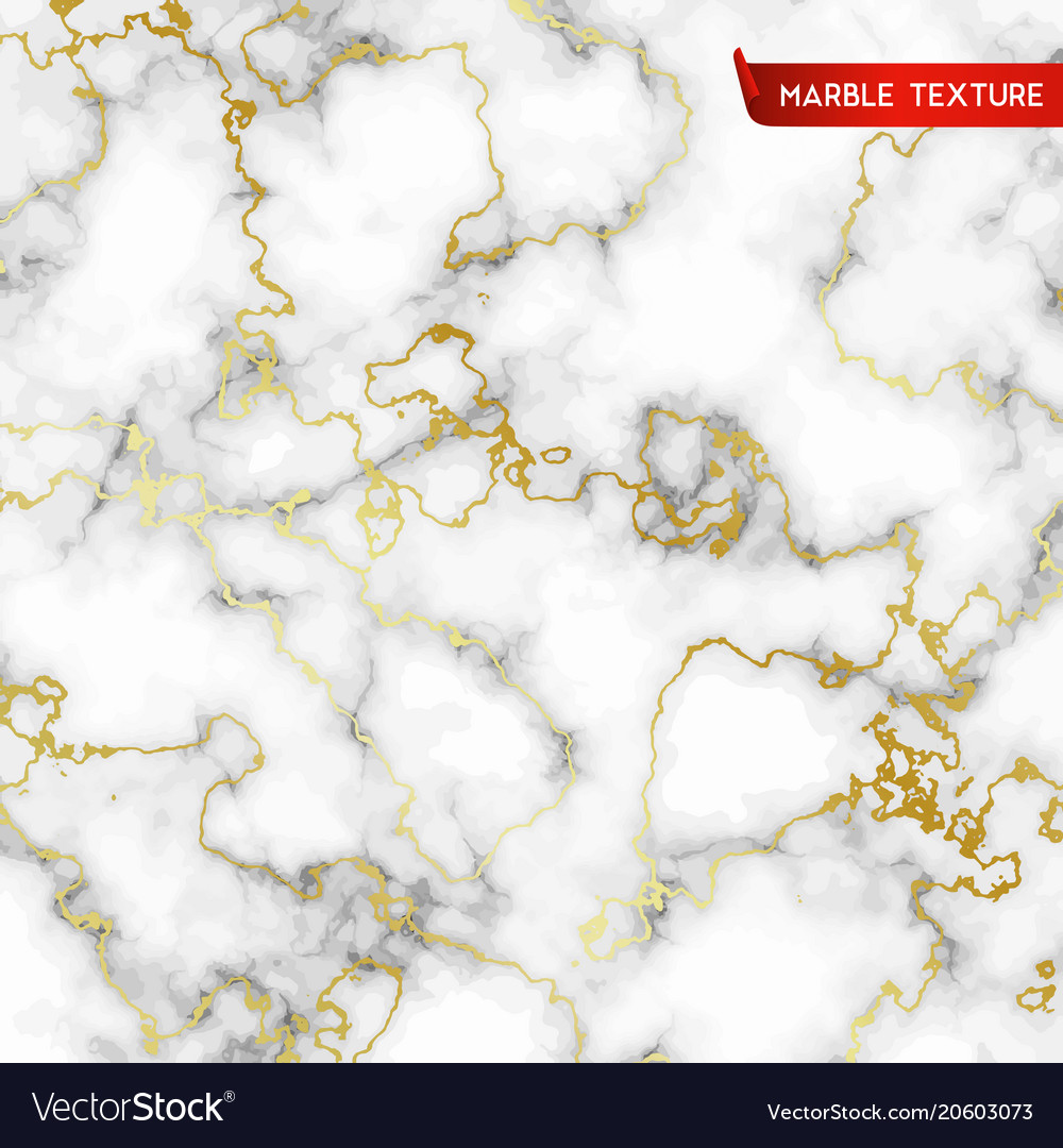 White Marble Textures With Gold Royalty Free Vector Image