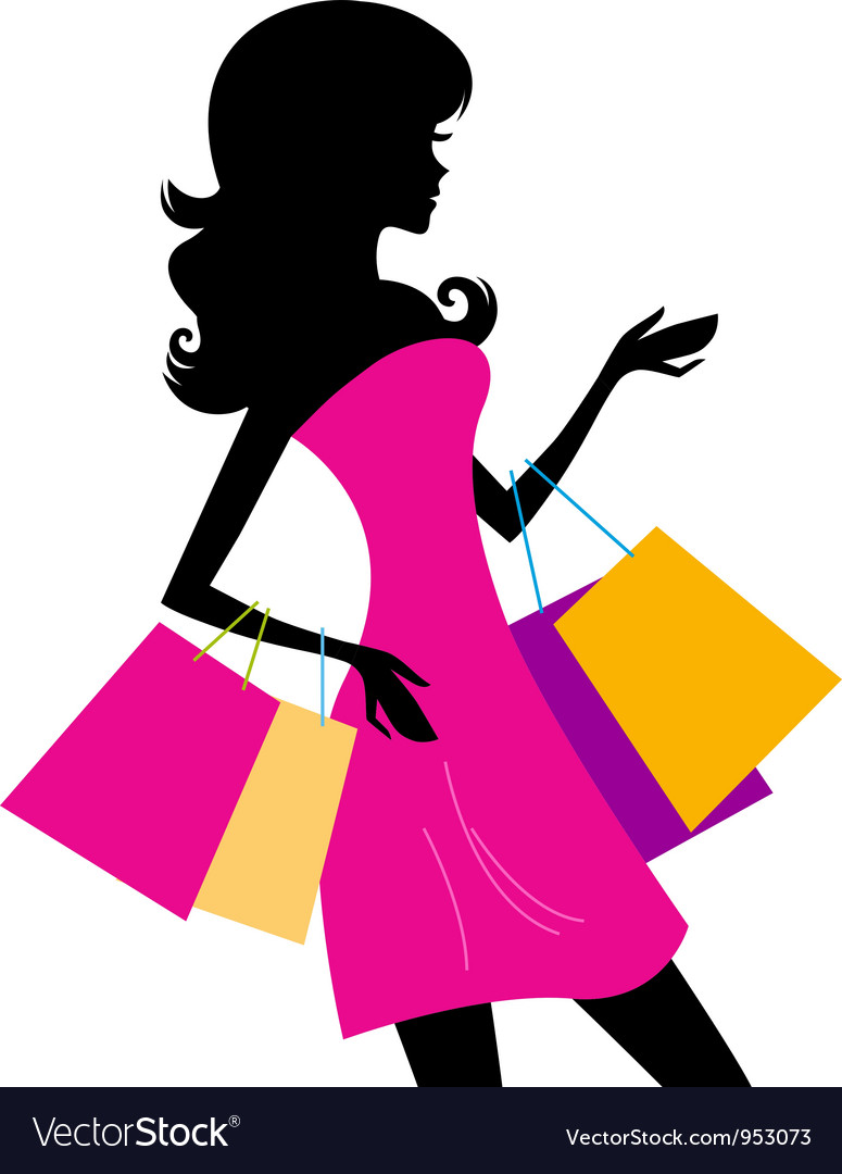 1ebef69e827 Woman shopping silhouette