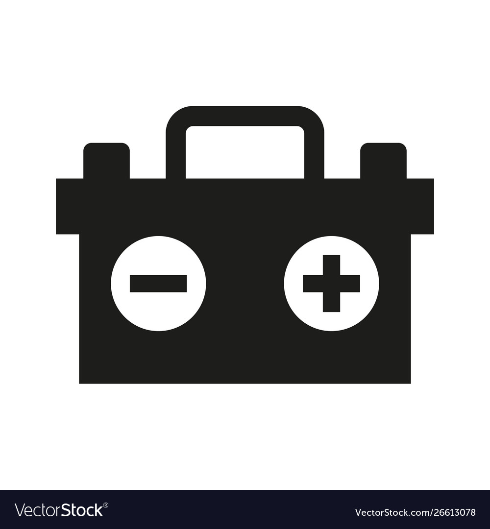 car battery icon on white background royalty free vector vectorstock