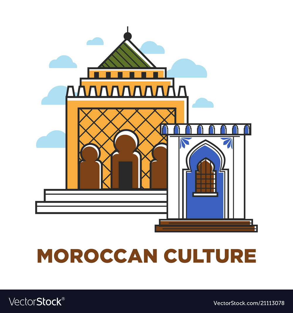 moroccan architecture buildings royalty free vector image