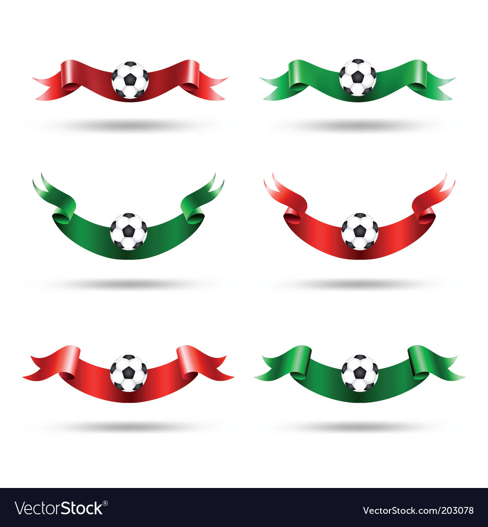 Ribbons with soccer ball