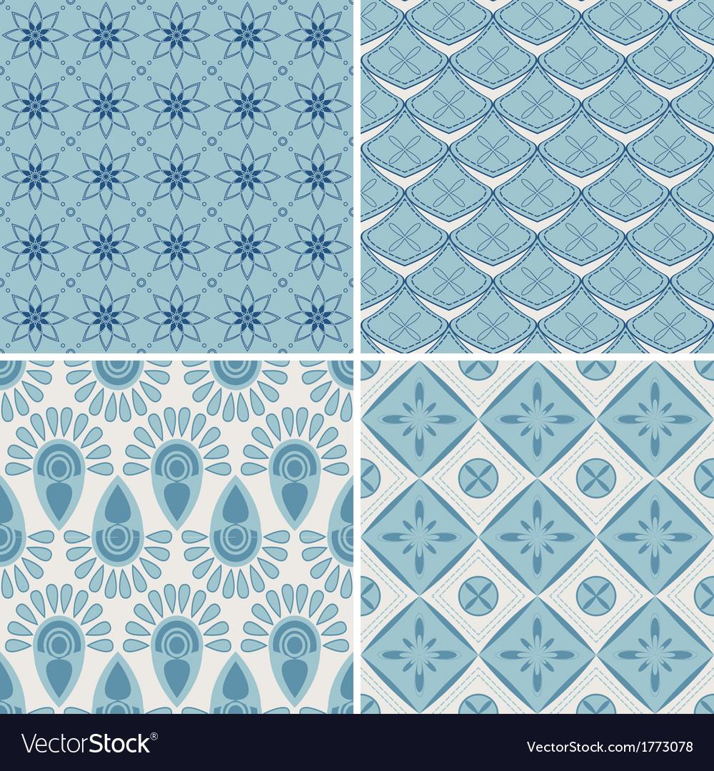 Set of four seamless pattern