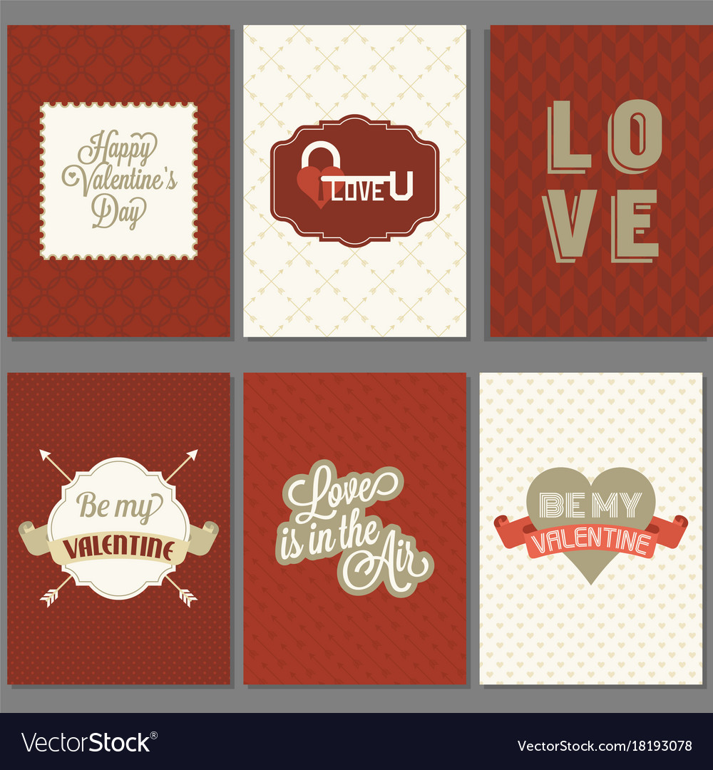 Template of valentine greeting card and invitation