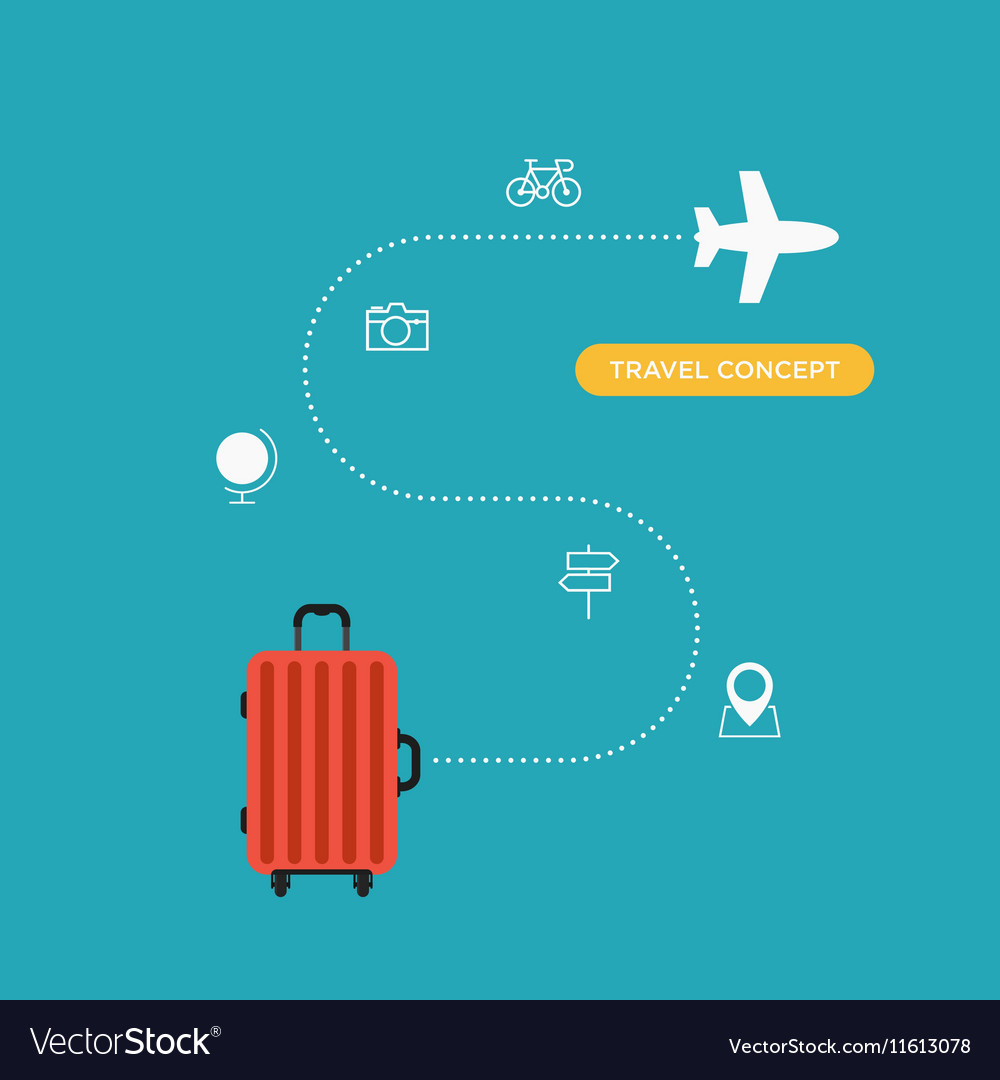 Travel concept flat design business trip holiday