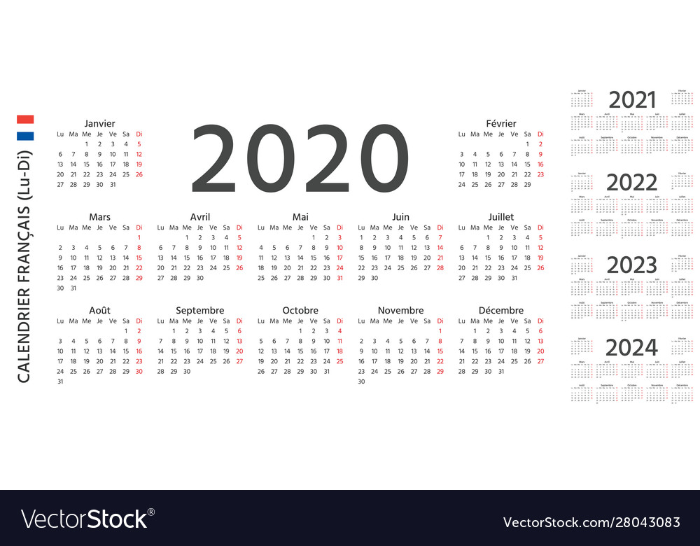 Calendrier 2020 2021.2020 2021 2022 French Calendar Template Year