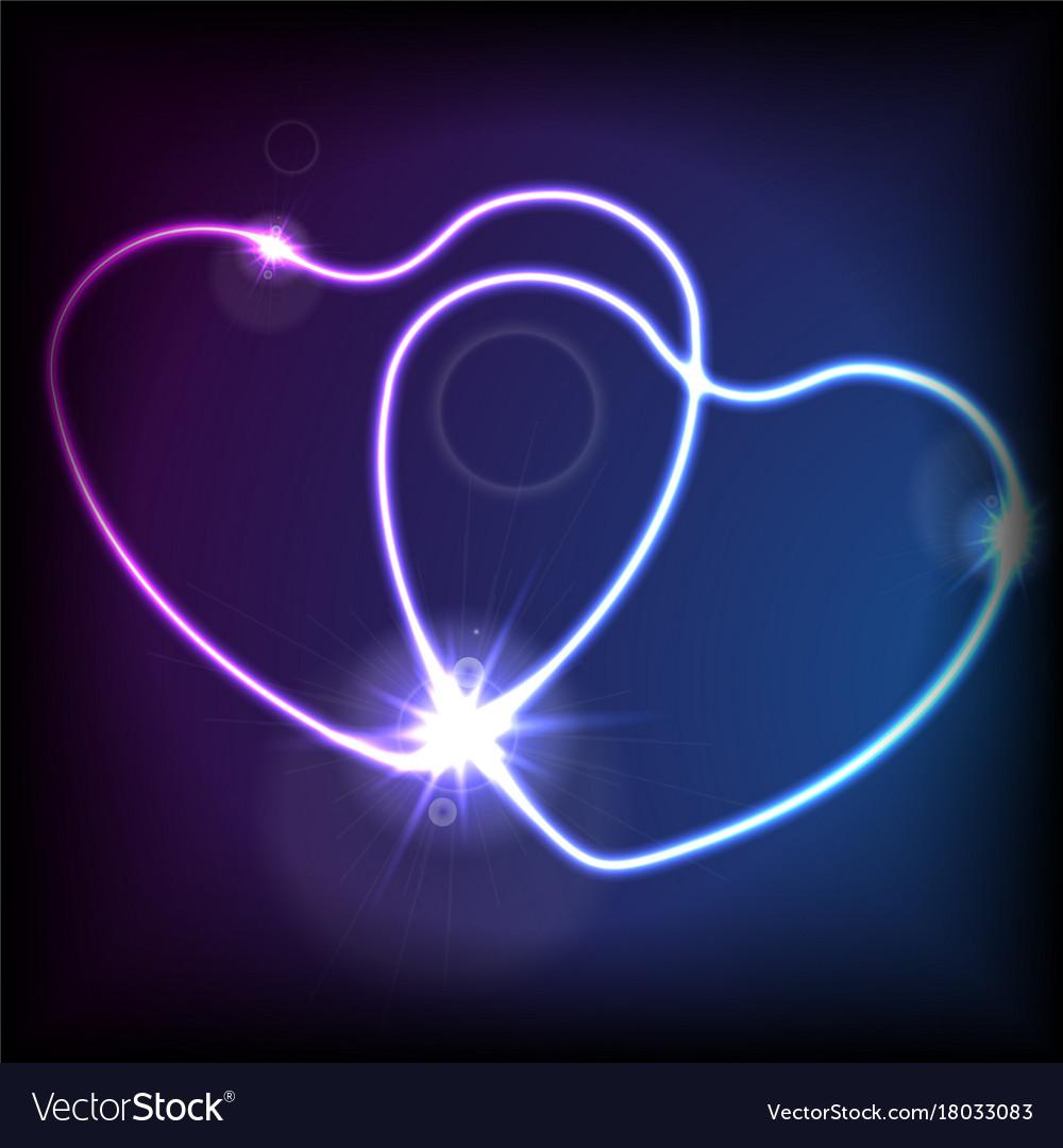 neon blue heart