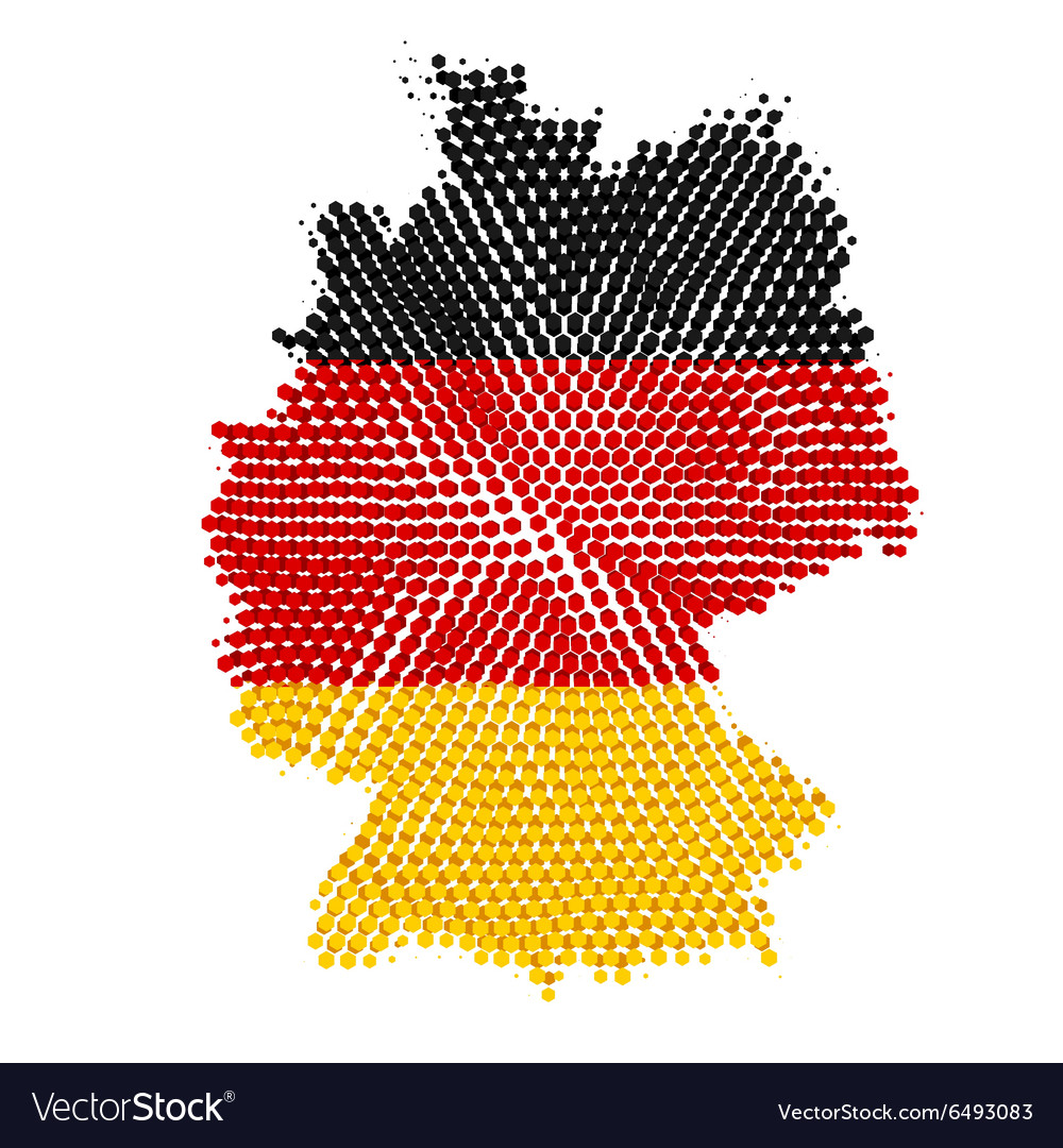 Germany map with halftone effect