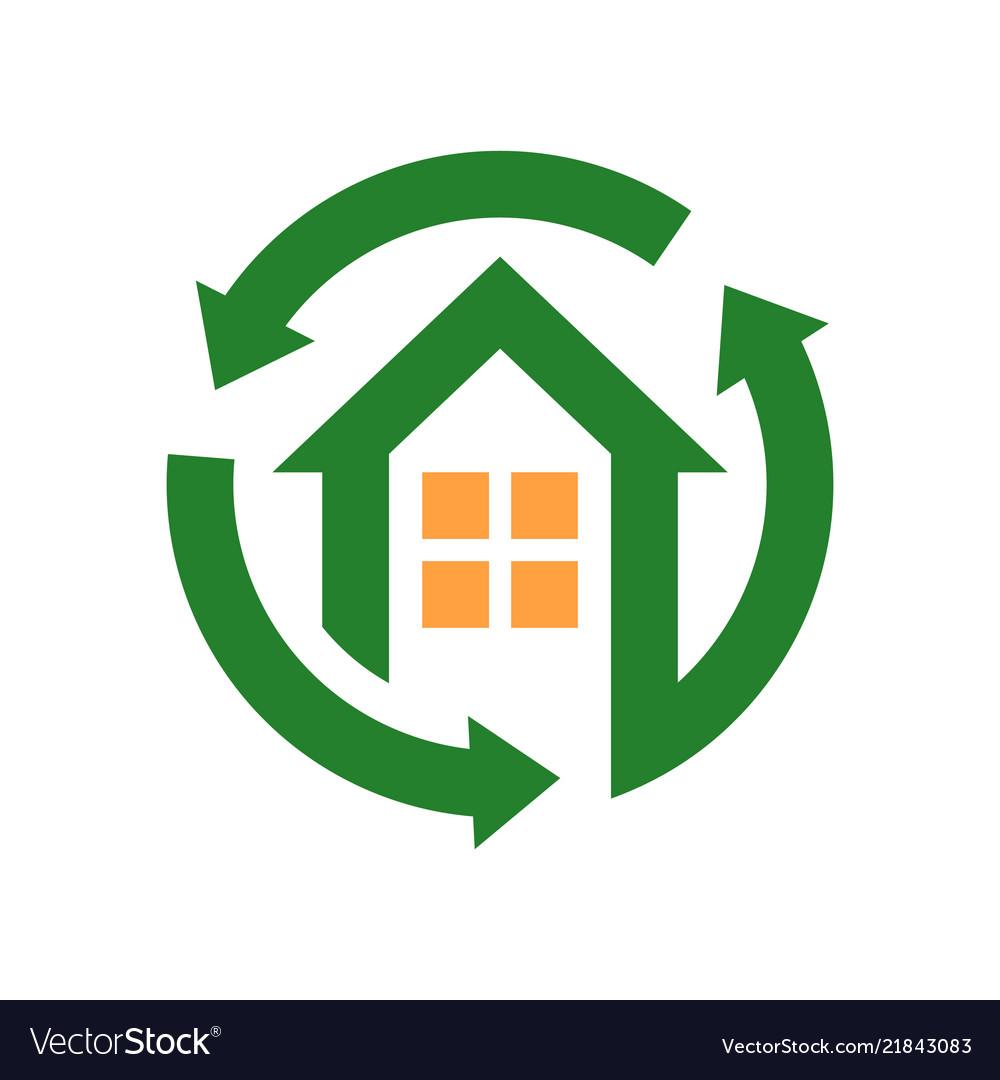 Home sign and symbol logo