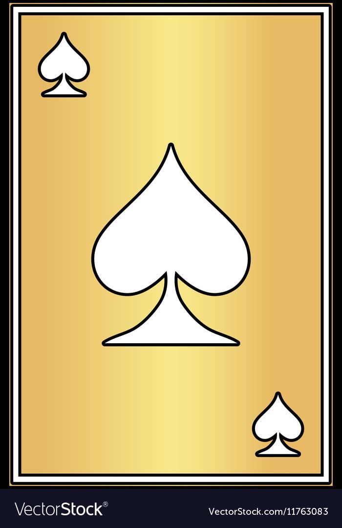 Spades card computer symbol vector image