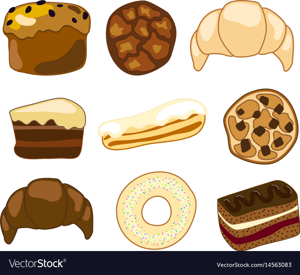 sweet bakery clipart royalty free vector image rh vectorstock com bakery clipart vectors bakery clipart png