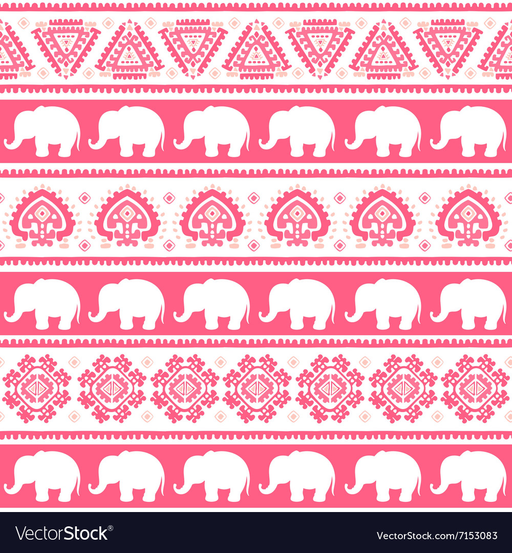 Vintage Indian elephant vector image