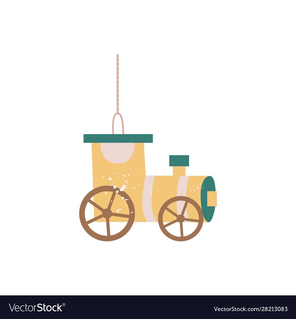 Vintage yellow wagon train car - hanging christmas