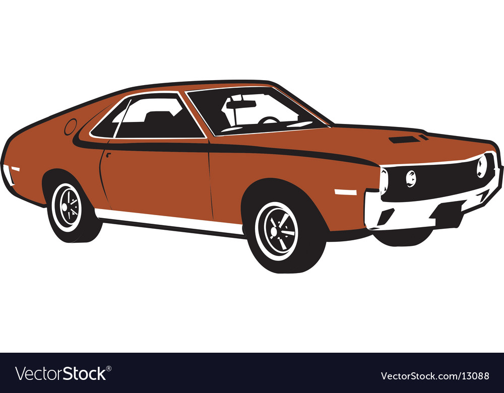 4 wheel car vector image