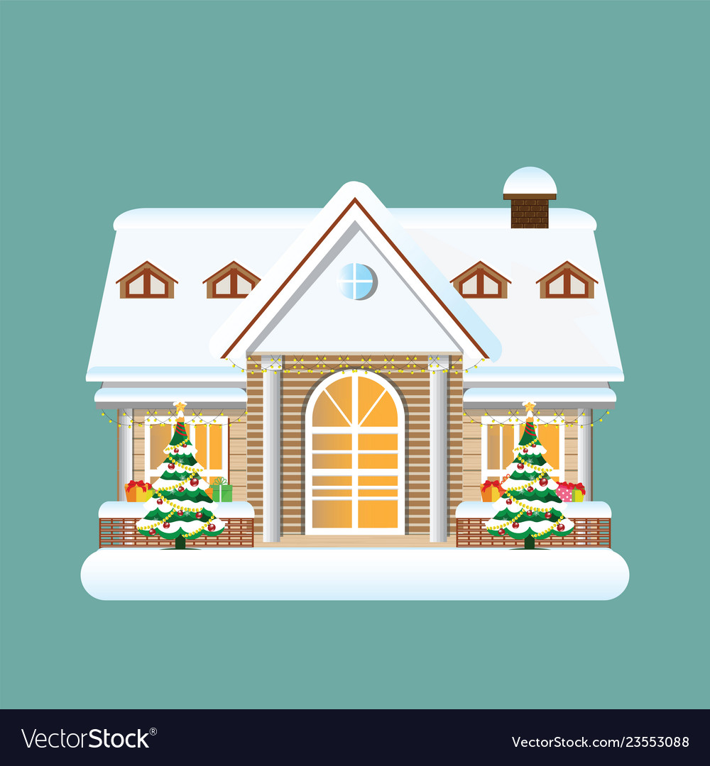 Building in merry christmas holiday ornament with
