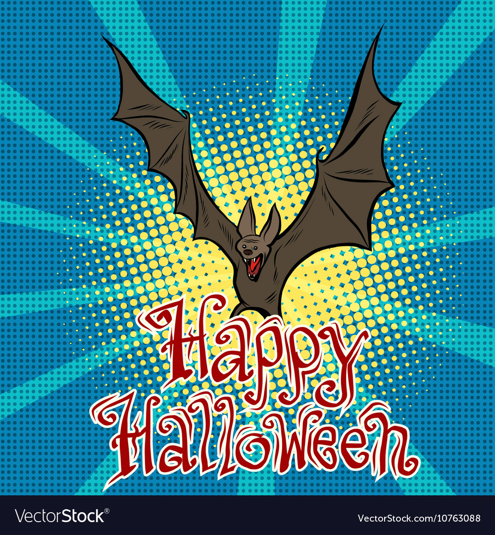 Happy halloween vampire vector