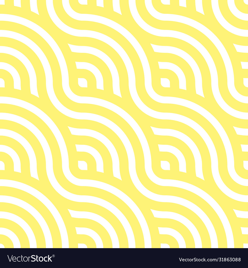 Noodle seamless pattern yellow waves abstract