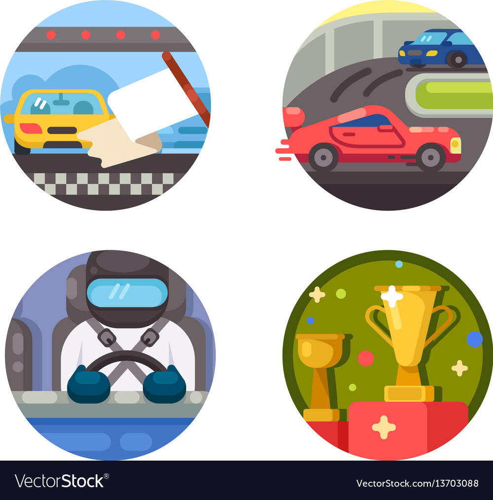 Set of race icons