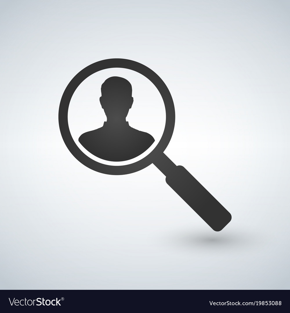 User search icon magnifying glass icon