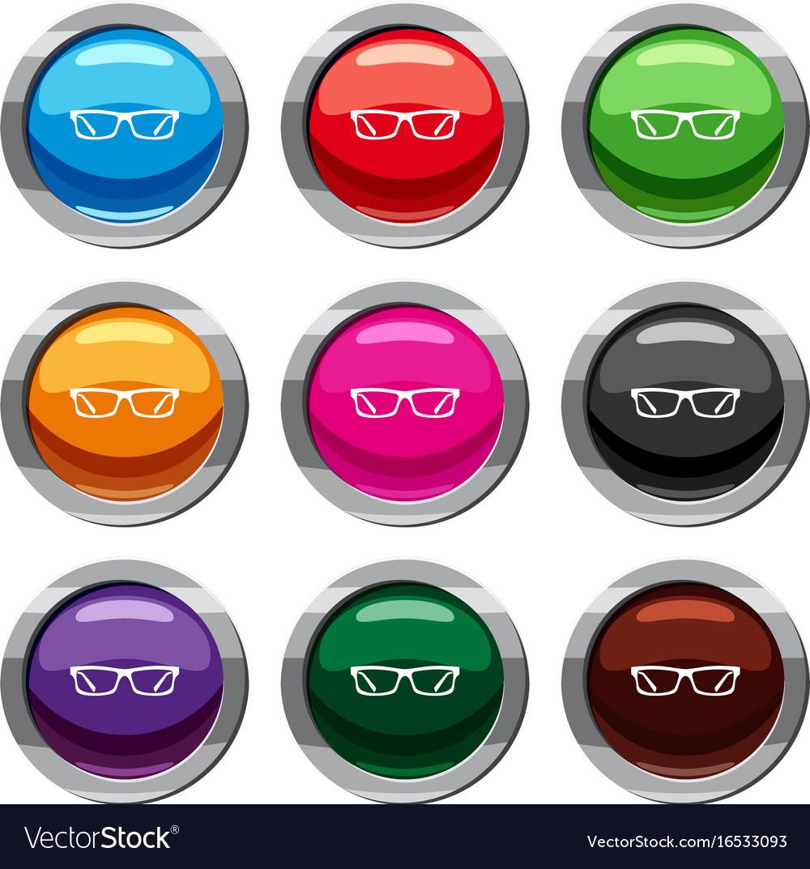 Eye glasses set 9 collection vector image