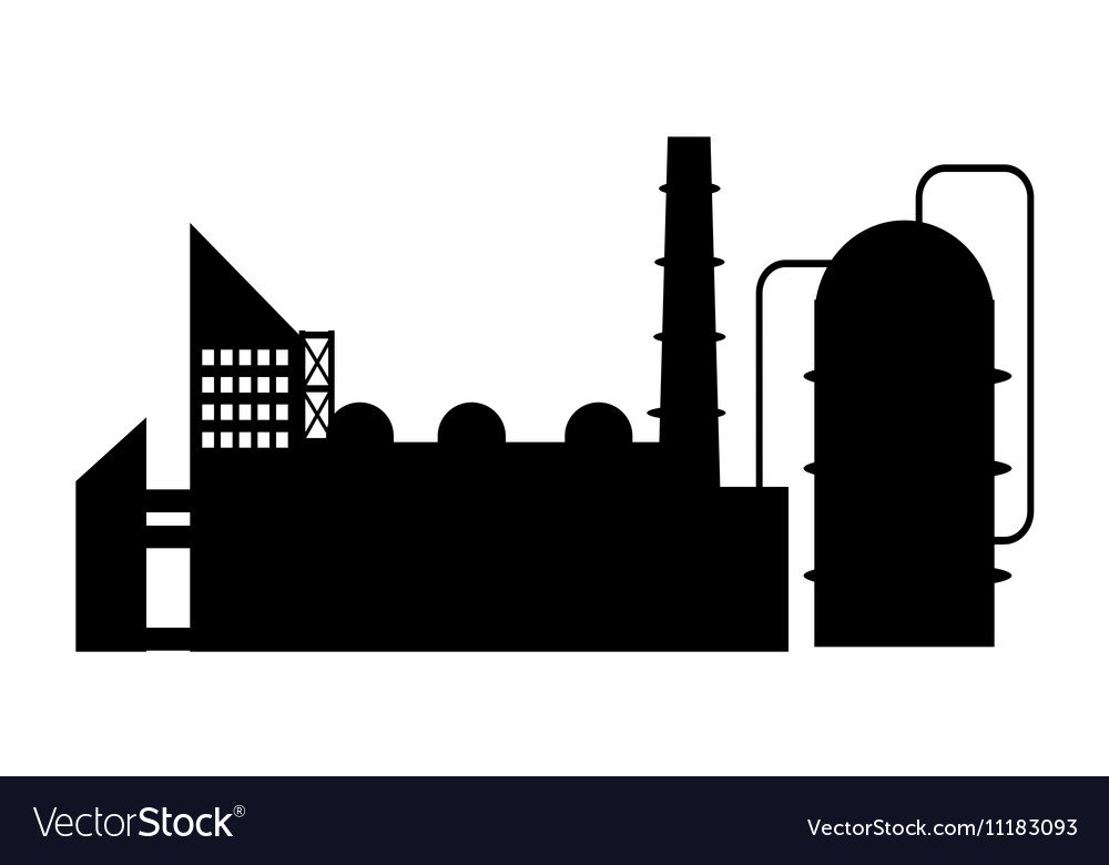 Industry icon silhouette