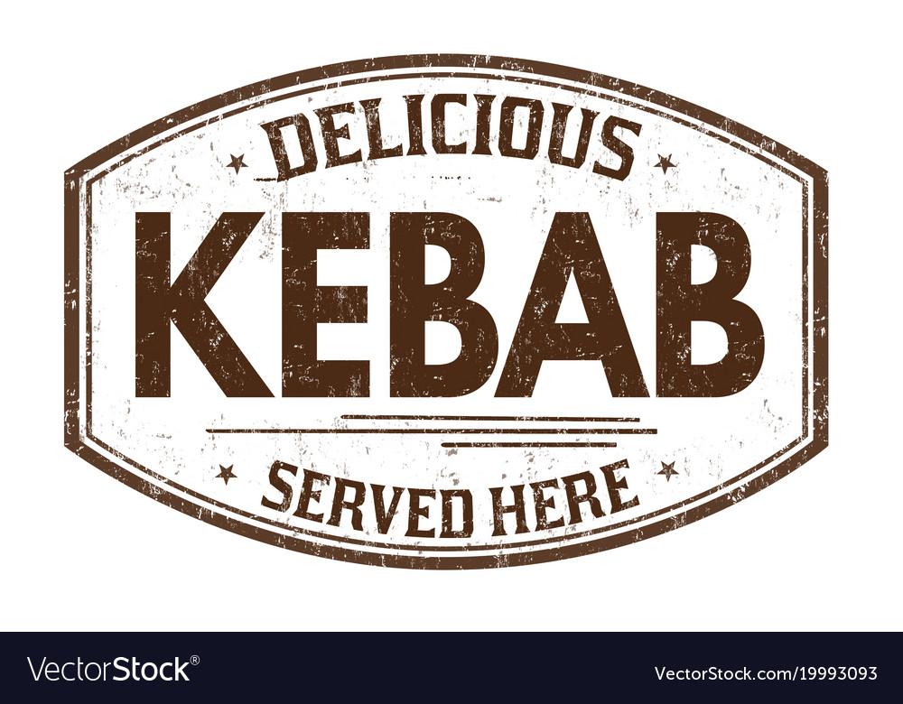 Kebab grunge rubber stamp