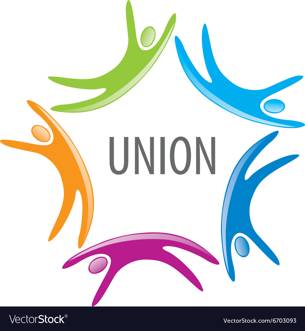 Logo union people vector image