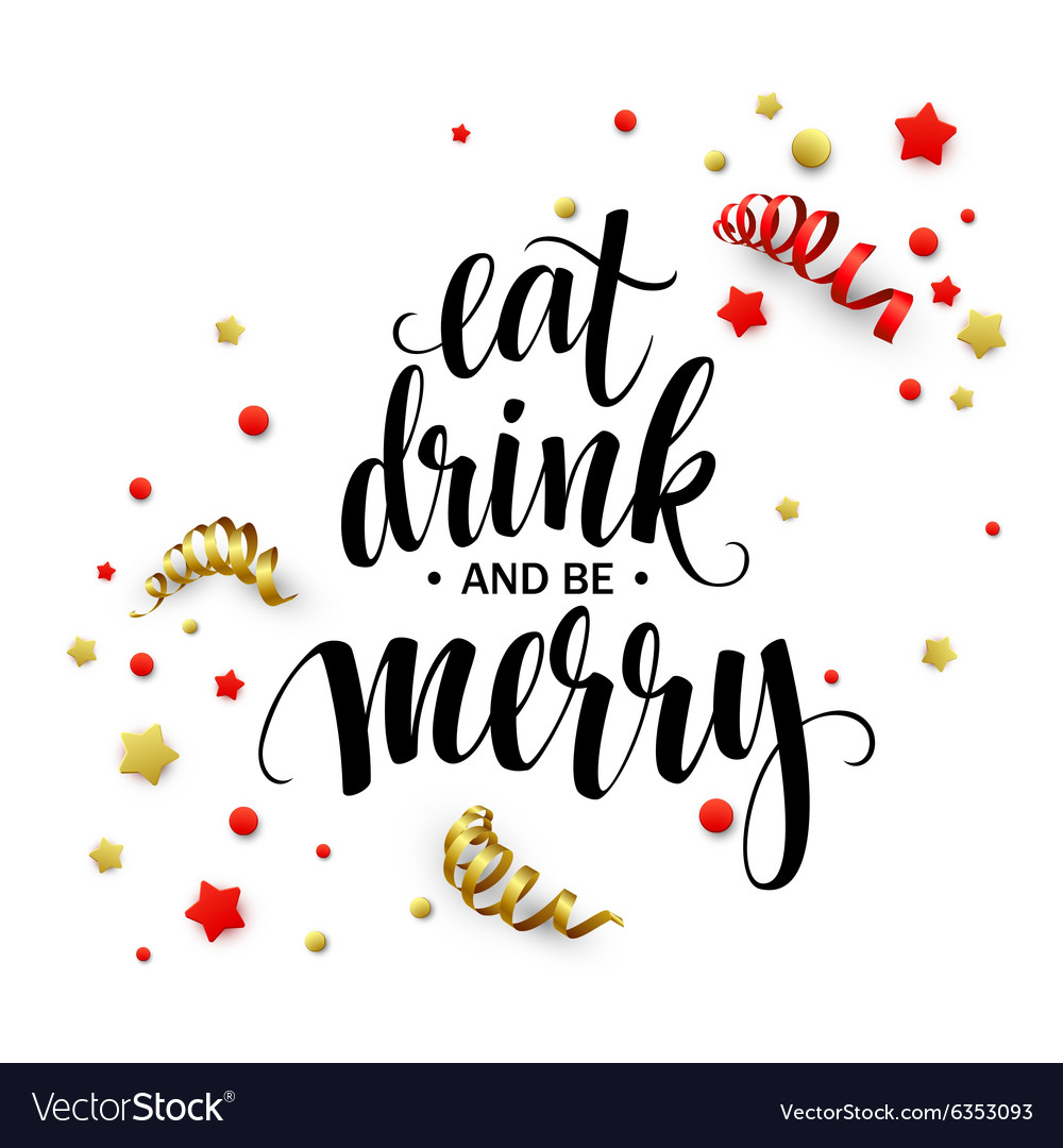 Poster lettering Eat drink and be merry