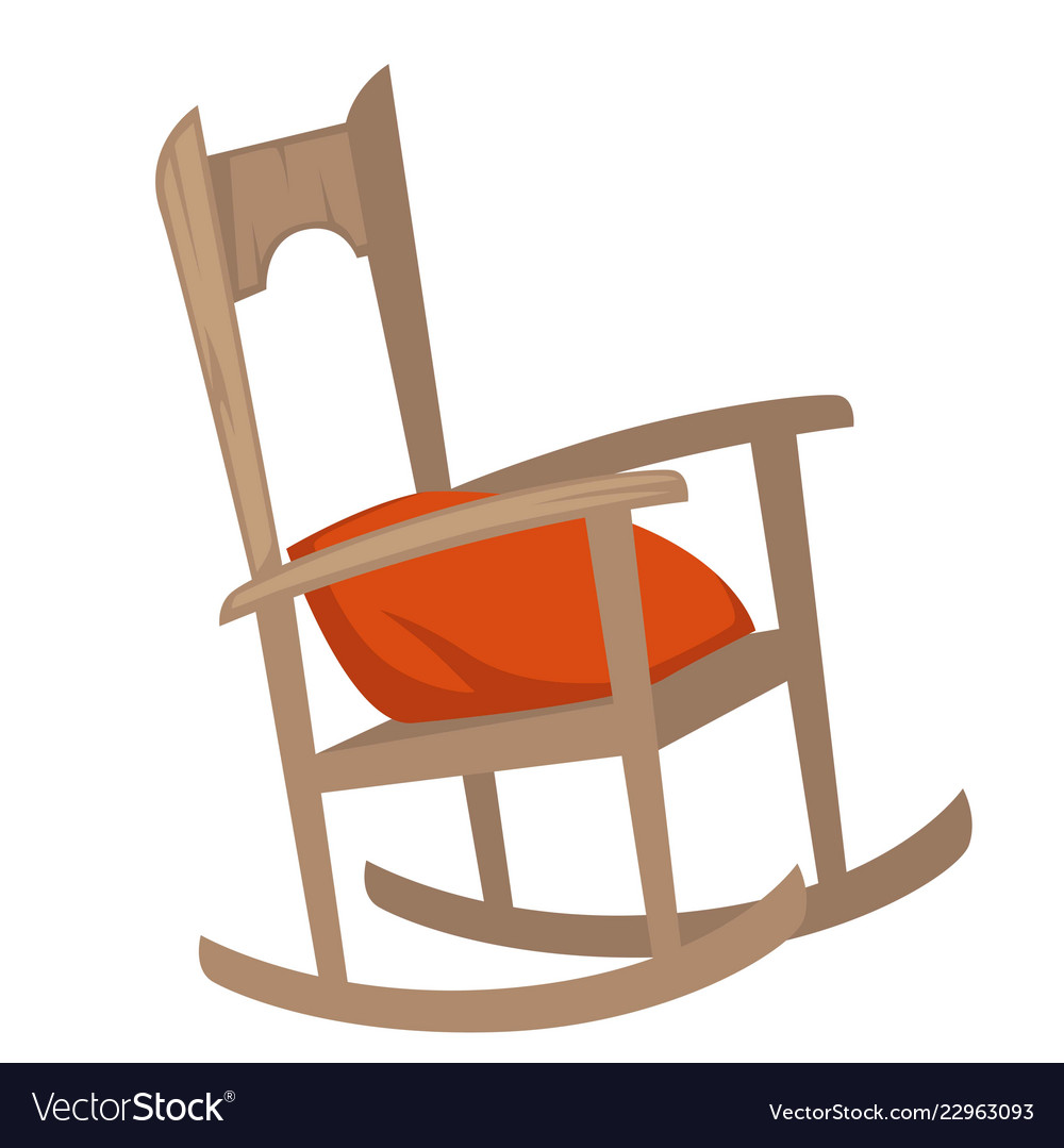 Awe Inspiring Rocking Chair Of Wood With Pillow On Seat Machost Co Dining Chair Design Ideas Machostcouk
