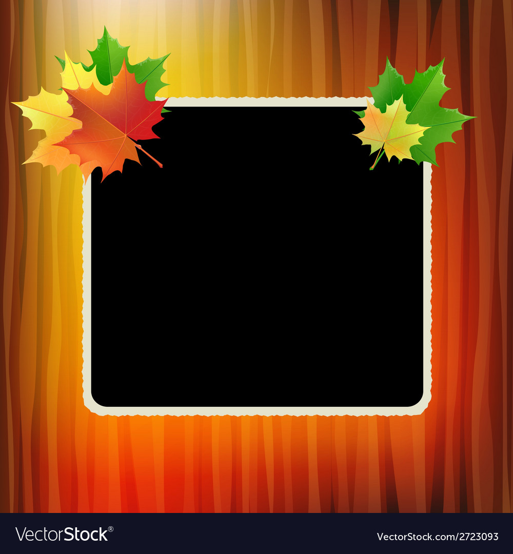 School board with maple leaves in the corners