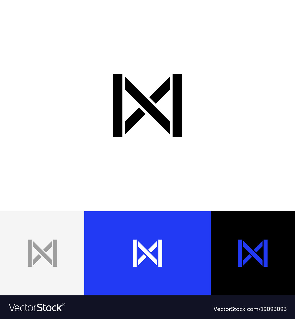 Sign Symbol Of Abstract Letter M Logo M Royalty Free Vector