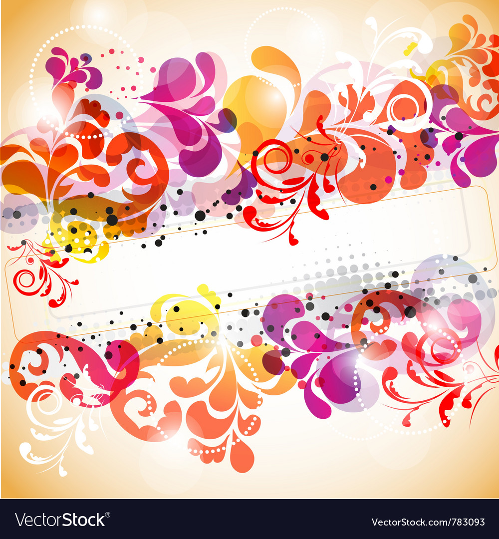 Stylish abstract background with space for text vector image