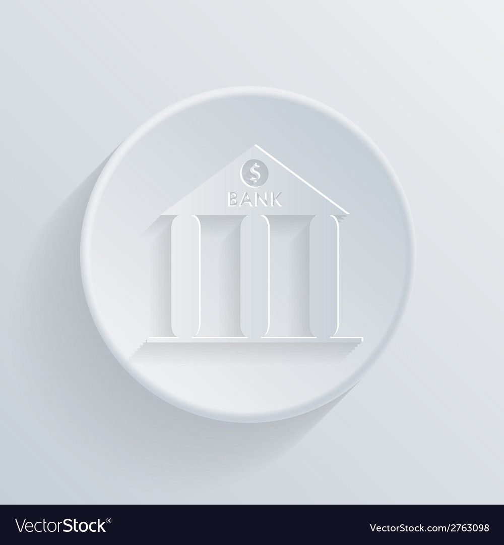 Circle icon with a shadow bank building