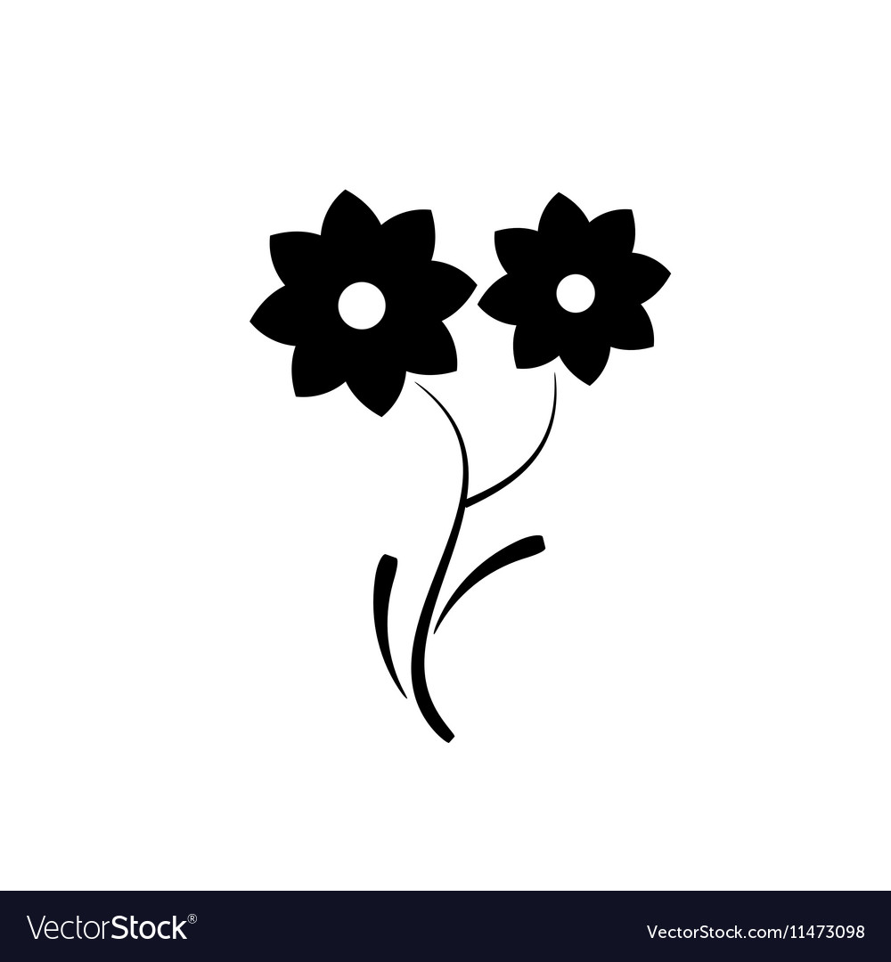 Decorative flower icon in flat style isolated vector image