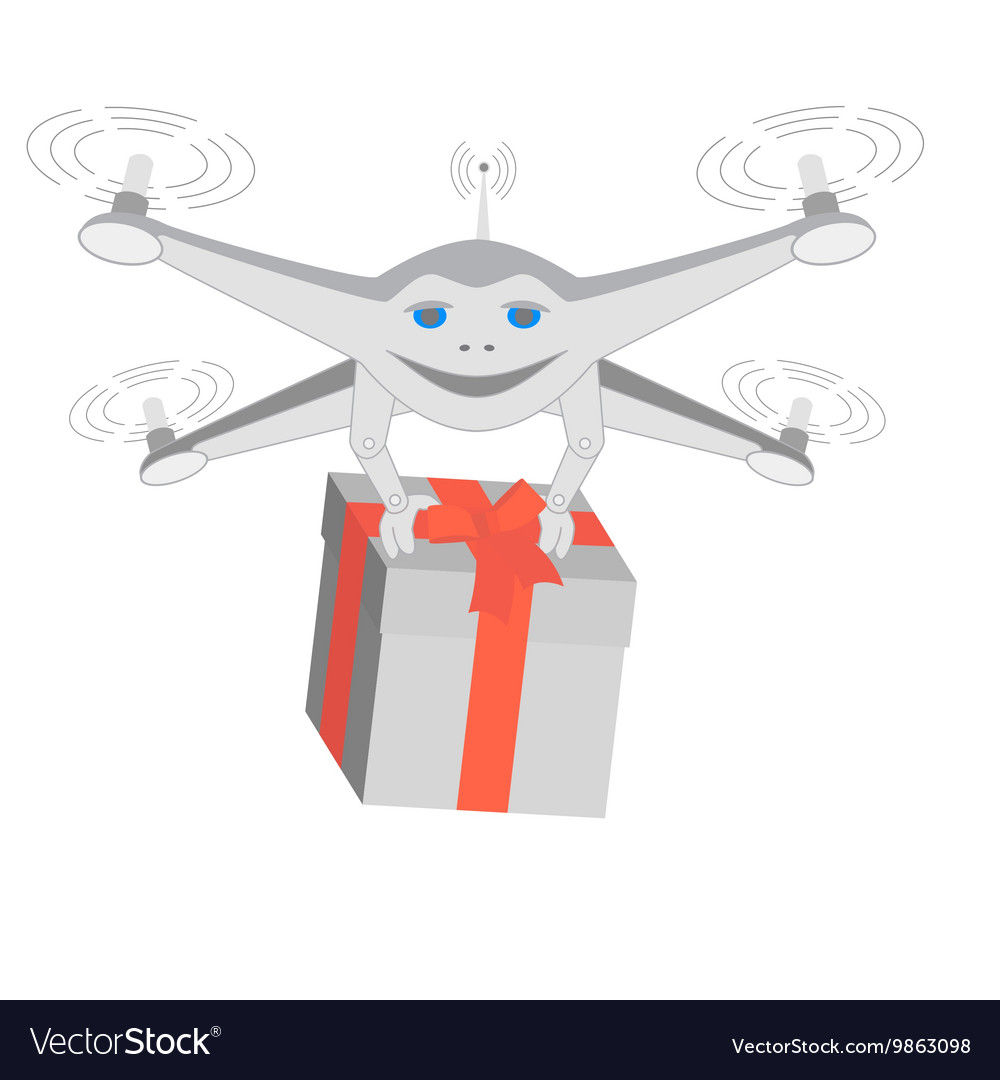 Drone delivers gifts Insulated