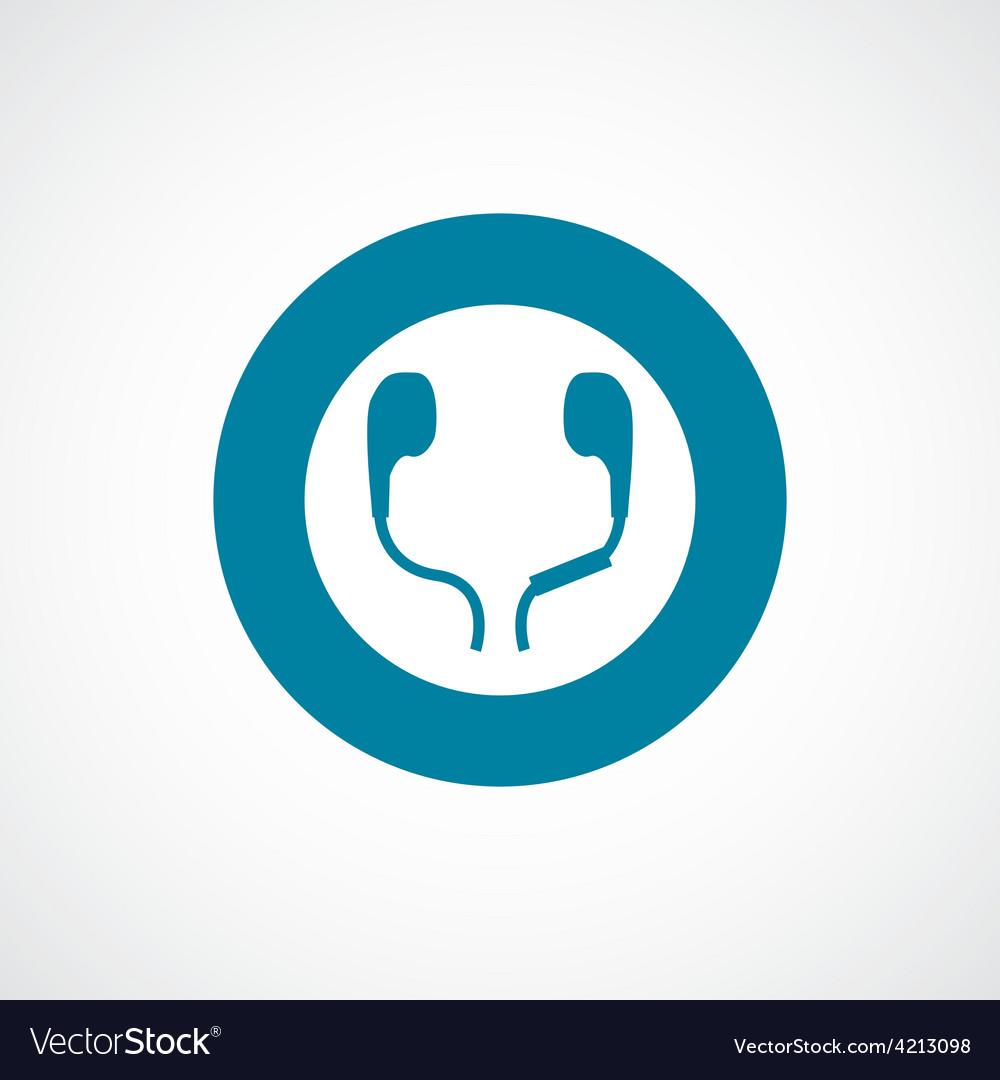 Headphones icon bold blue circle border
