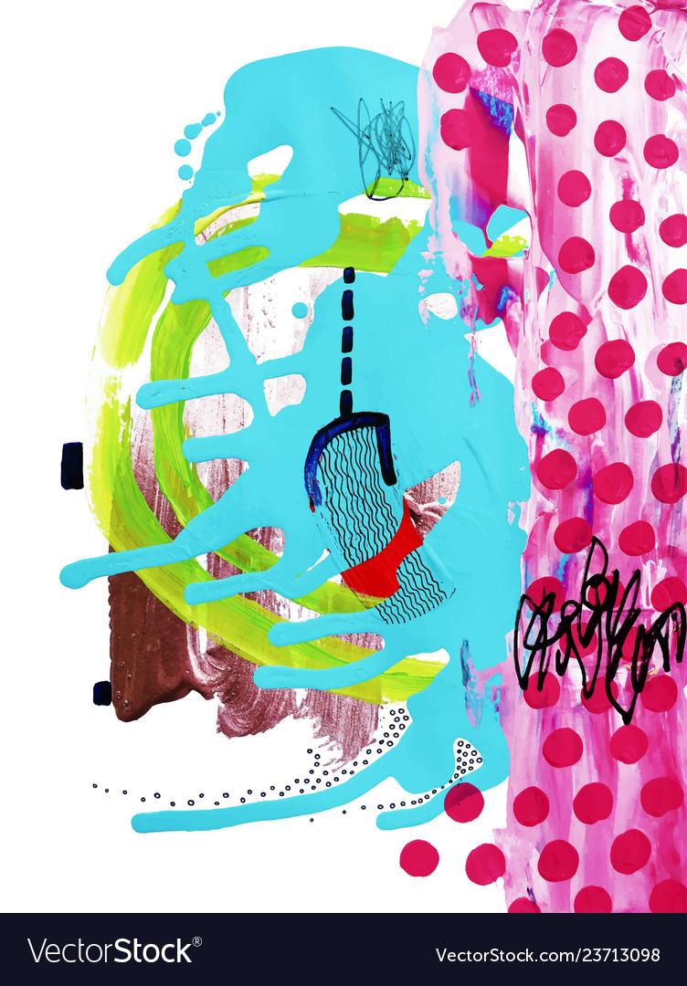 Original digital art composition contemporary