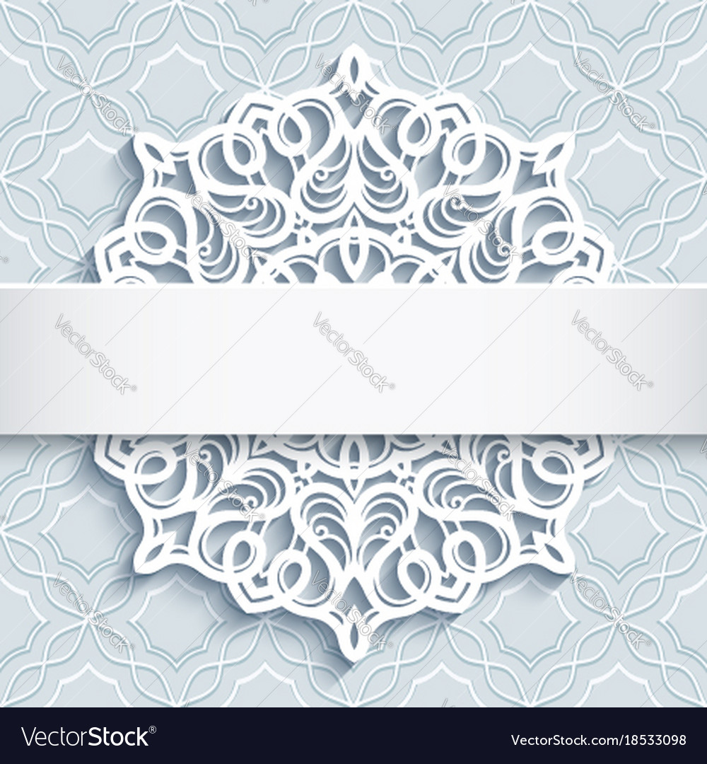 Ornamental background with cutout paper doily