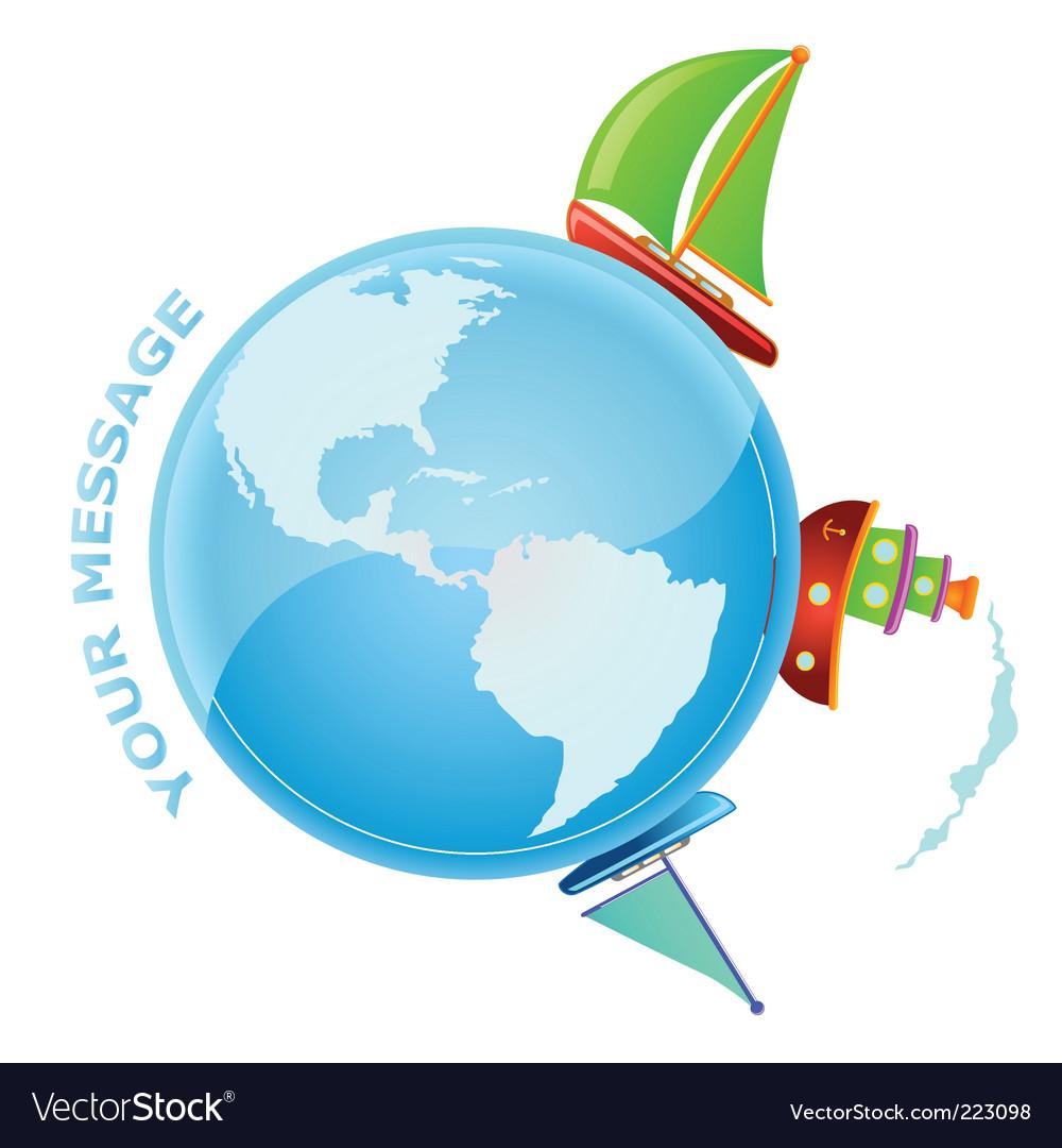 Sailing world vector image