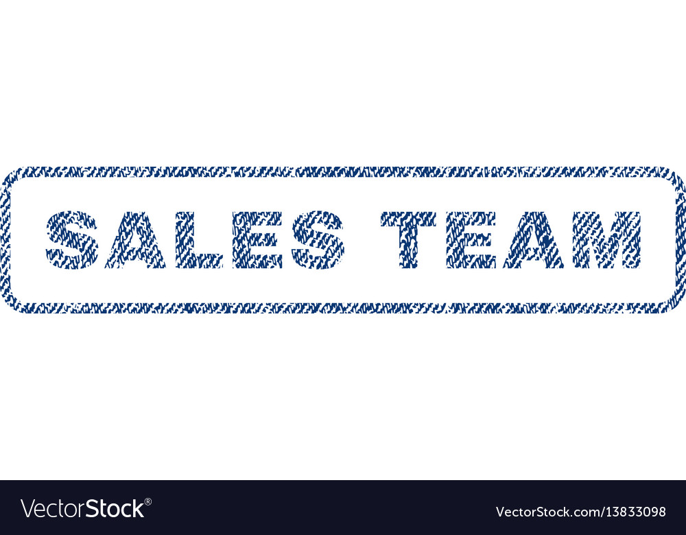 Sales team textile stamp