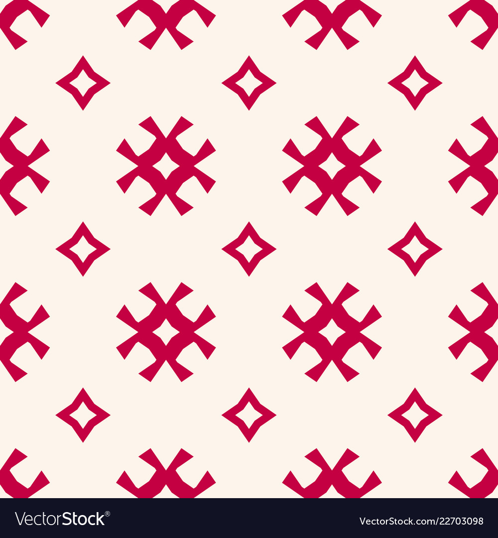 Seamless pattern traditional scandinavian motif