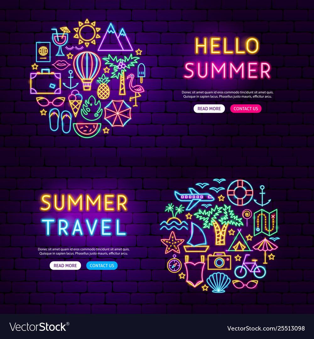 Summer website banners