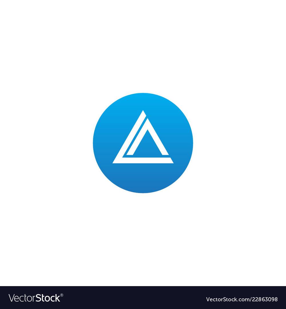 Triangle round company logo